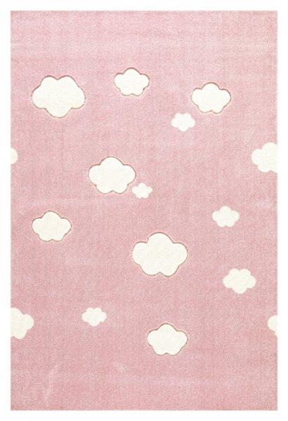 Wolken-Teppich LEONIE Rosa Weiß