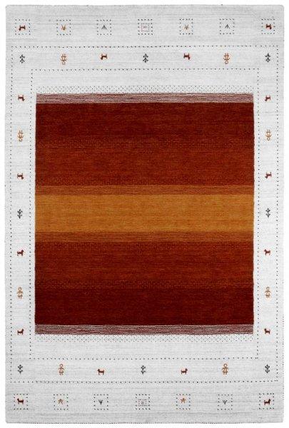 Teppich MYSTERY Handgewebt Rot Weiß