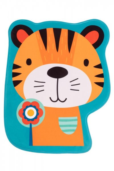Kinderteppich Tiger Polyester Kinderzimmerteppich Tiermotiv