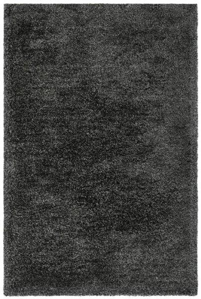 Hochflor-Teppich Handgetuftet Dunkelgrau