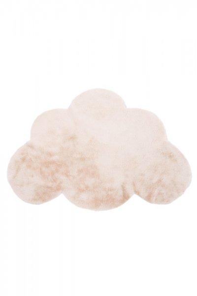 Kinderteppich cream Wolke Form Kinderzimmer Teppich