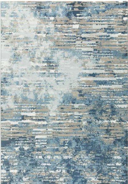 Design Teppich ROMY Beige Blau