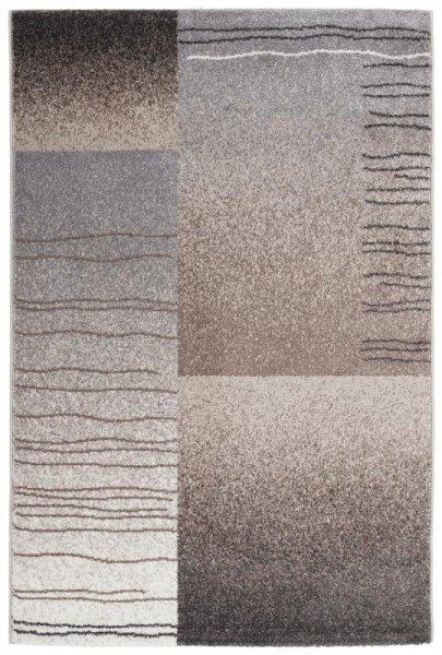 Designer Teppich Grau Braun