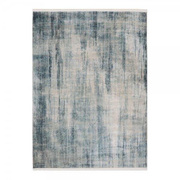 Hochwertig Glanzeffekt Teppich Türkis Design Modern
