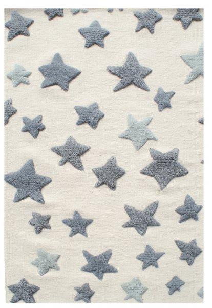 Kinderteppich MILA Sterne Grau Weiß