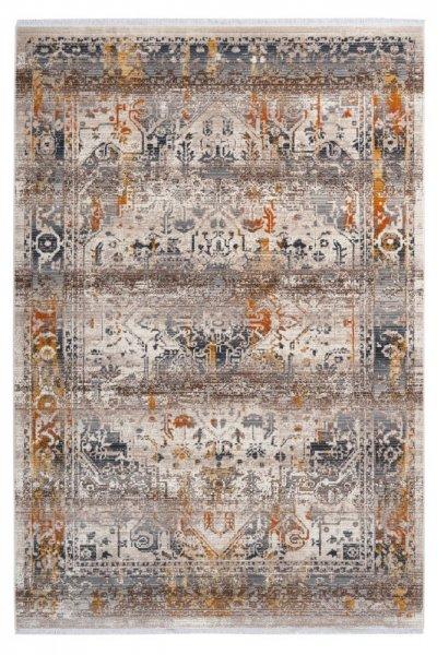 Design Teppich Irma taupe hochwertig und modern Vintage Teppich