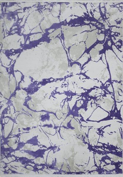 Designer Teppich EARTH Lila Weiß Creme 160x230cm modern