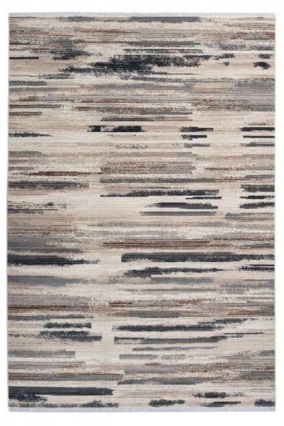Design Teppich Irma taupe hochwertig und modern Kurzflur Teppich