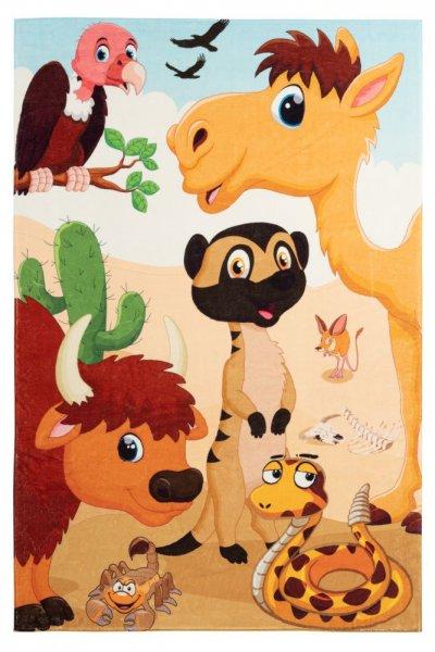 Kinderteppich savannah rechteckig Kinderzimmerteppich multi Tiere