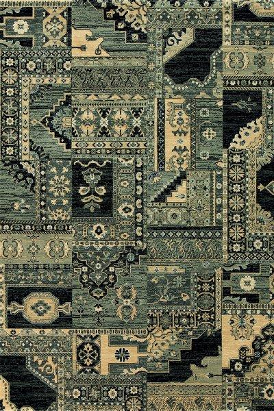 Teppich Orient Design Schwarz Multicolor
