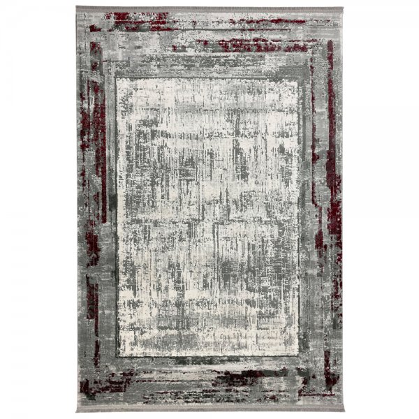 Vintage Teppich Muster Grau Bordo