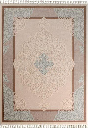 Teppich Läufer Orientalisch Beige Braun Türkis