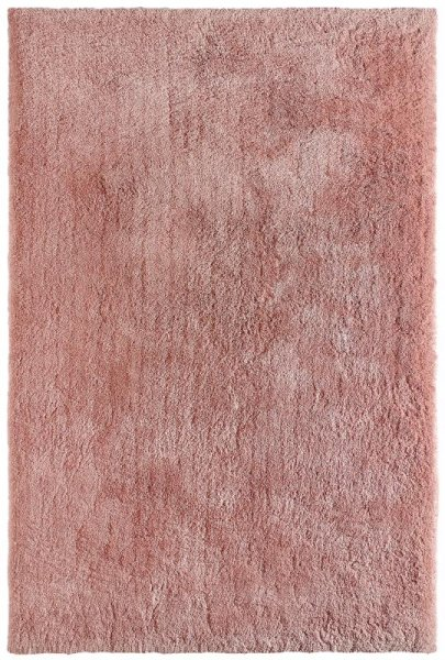 Shaggy Teppich Handgetuftet Puder Rosa