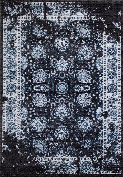 Teppich Leon Vintage Schwarz Blau