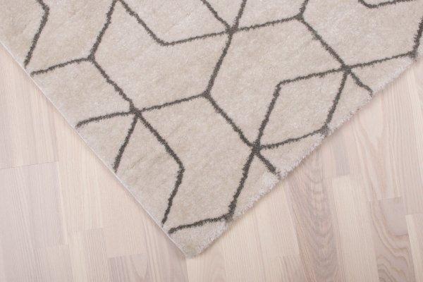 Teppich 60er Retro Muster Weiß