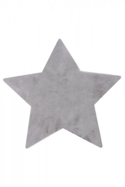 Kinderteppich silber Stern Form Kinderzimmer Teppich