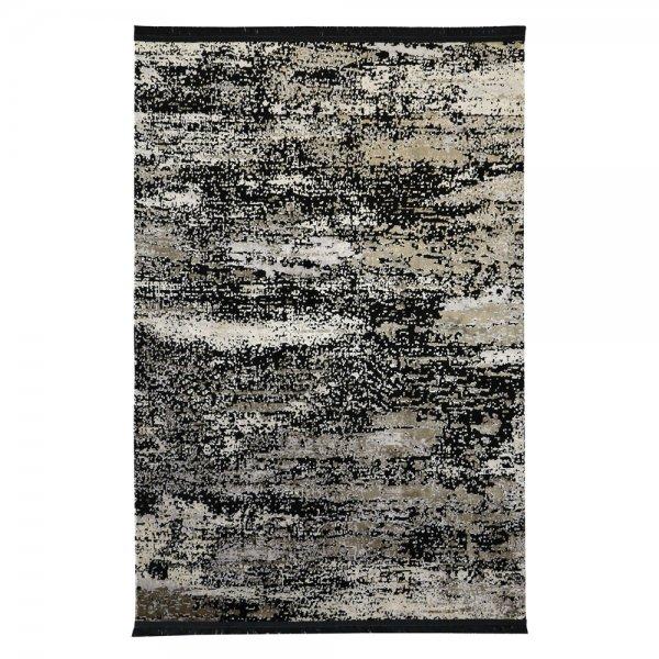 Modern Lichteffekt Teppich Schwarz Beige