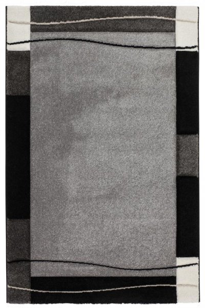 Designer Teppich GIBRALTAR Konturenschnitt Grau