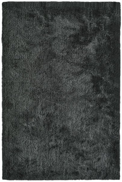 Shaggy Teppich Handgetuftet Dunkelgrau