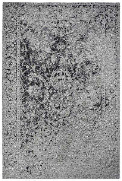 Teppich Vintage Look Silber Grau