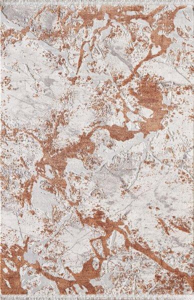 Designer Teppich MUNDO Grau Bronze Braun Weiß