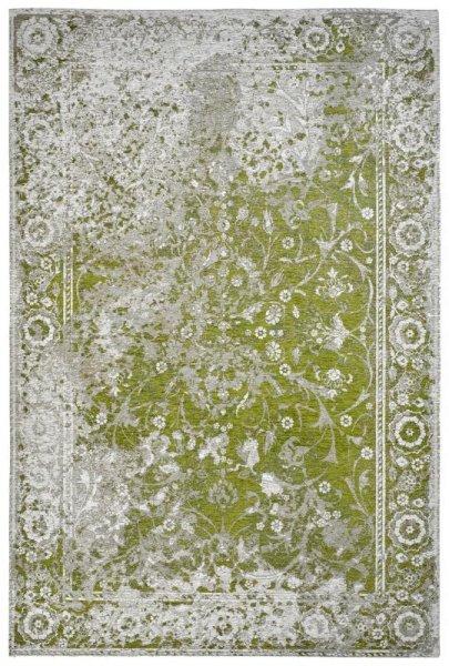 Teppich Vintage Look Grün Grau