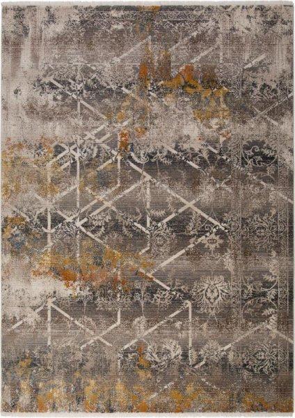 Teppich Vintage Style Grau Braun