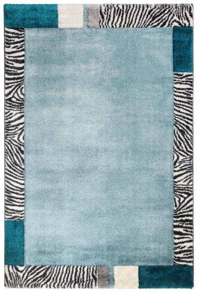 Hochflor Designer Teppich Hellblau