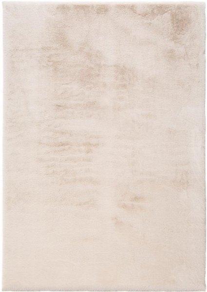 Flauschiger Hochflor Teppich Creme Weiß