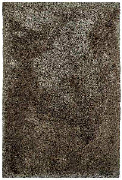 Shaggy Teppich Handgetuftet Braun