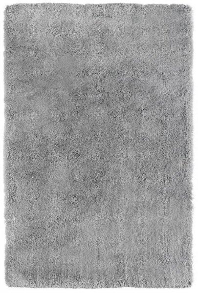 Shaggy Teppich Handgetuftet Hellgrau