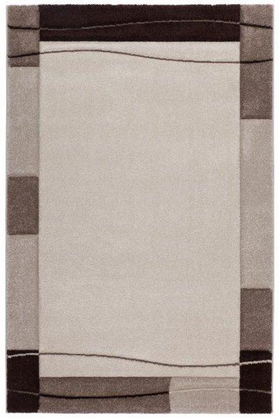 Designer Teppich GIBRALTAR Konturenschnitt Beige