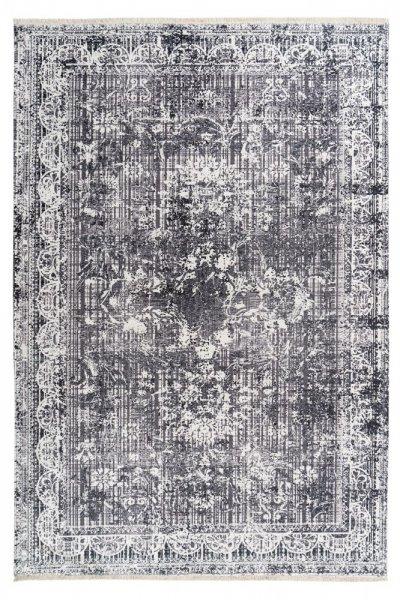 Designteppich Viola grau rechteckig modern Vintage Teppich