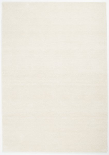 Kurzflor Teppich Waschbar Uni Weiß