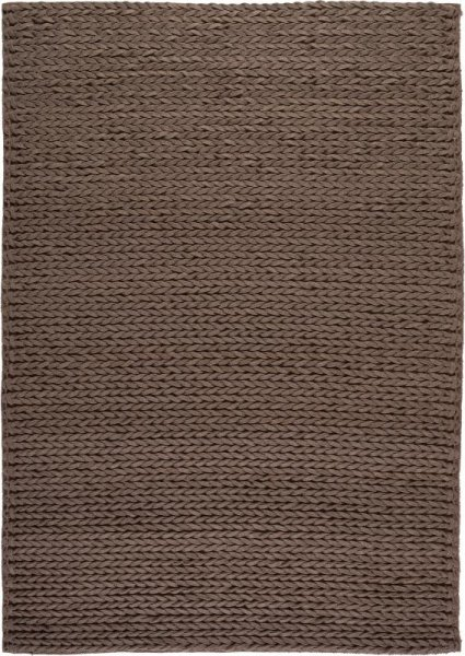Wollfilz Teppich Handvernäht Taupe