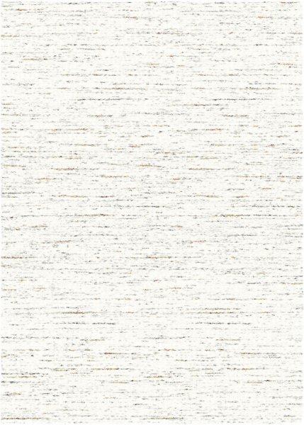 Hochflor Teppich DALLAS Weiß Grau Orange