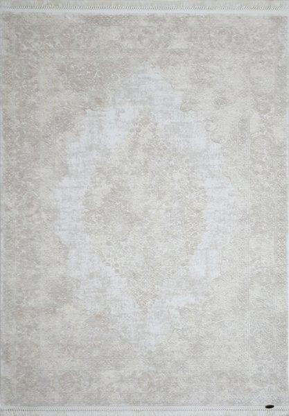 Teppich orientalisch Used Look Pastell Beige Weiß