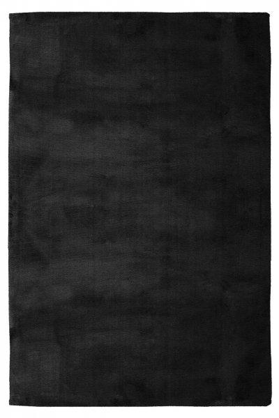 Modernes Kaninchen Fellteppich Carolin Black