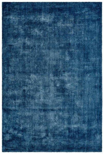 Naturfaser Teppich Handgefertigt Blau