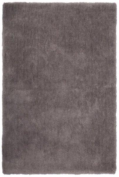 Hochflor Teppich Handgetuftet Platin Grau