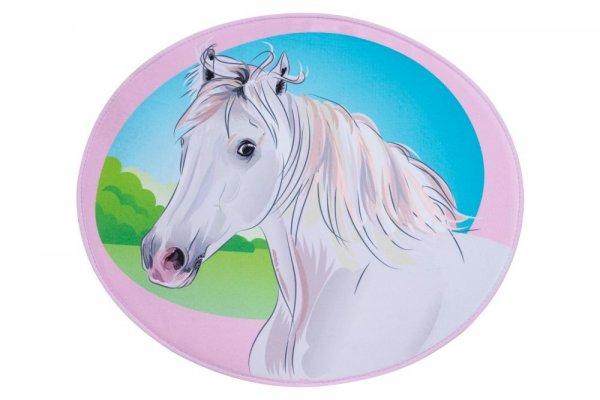 Kinderteppich Pferd Polyester Kinderzimmerteppich Tiermotiv