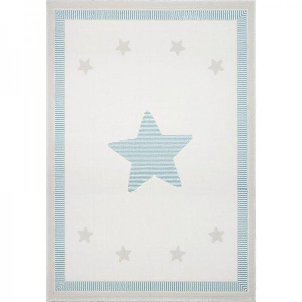 Sterne-Teppich JONAS Mint Weiß