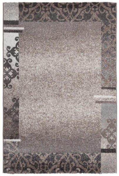 Teppich Ornamente Design Taupe Grau