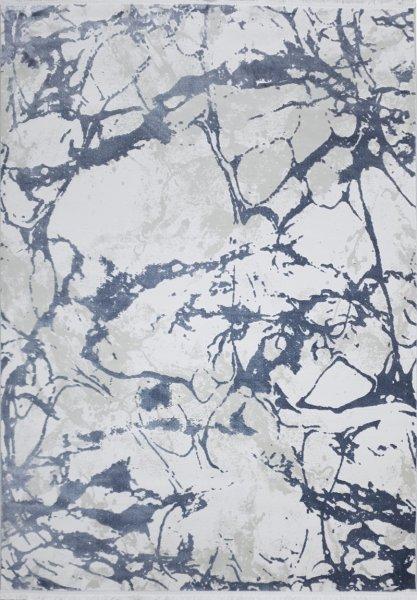 Designer Teppich EARTH Grau Weiß Creme 160x230cm
