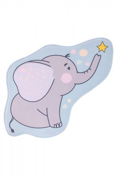 Kinderteppich Elefant Polyester Kinderzimmerteppich Tiermotiv