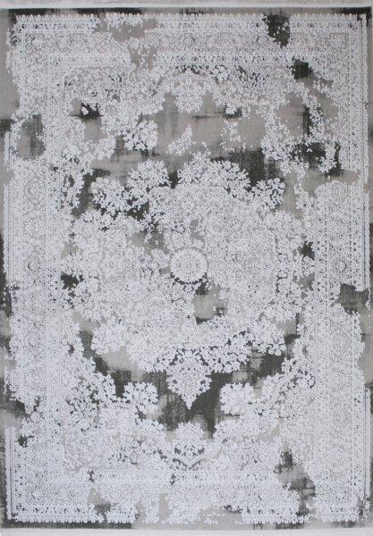 Vintage Teppich NAHLA Grau Weiß