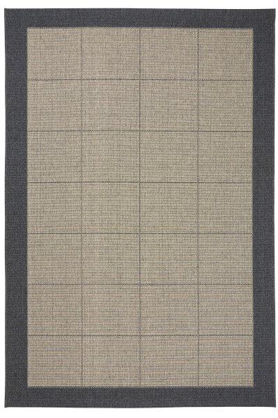 Teppich Dänisches Design Flachgewebe Dunkelgrau Beige