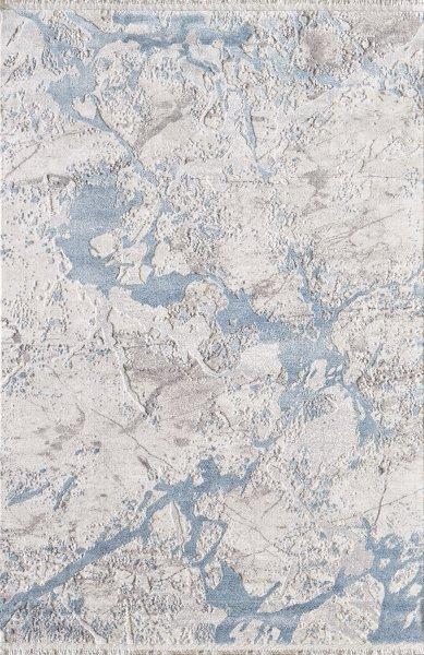Designer Teppich MUNDO Grau Hellblau