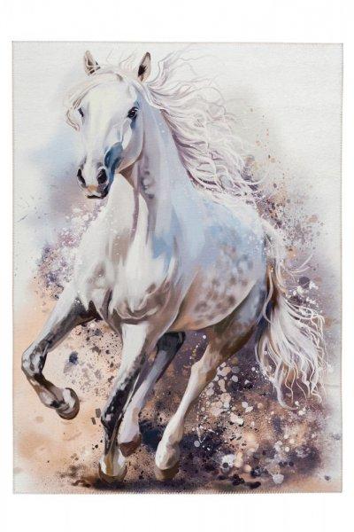 My Torino Kids 235 white horse rechteckig 100% Polyester Chenille