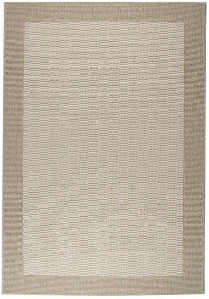 Flach gewebter Teppich Beige